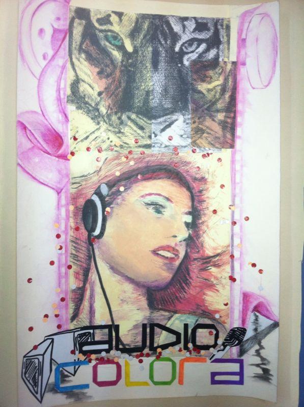 Cartel oficial Audiocolora. Creación propia