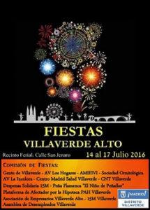Cartel Fiestas Villaverde Alto